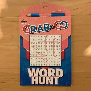 FREE with 3+ bundle Grab & Go Word Hunt book pink